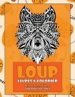 Livres à colorier - Conceptions anti-stress - Mandala animal - Loup Cover Image