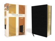 KJV, Amplified, Parallel Bible, Large Print, Bonded Leather, Black, Red Letter Edition: Two Bible Versions Together for Study and Comparison Cover Image