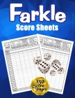 Farkle Score Sheets: 130 Large Score Pads for Scorekeeping - Blue Farkle Score Cards - Farkle Score Pads with Size 8.5 x 11 inches (Farkle Cover Image