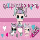LOL Surprise Calendar 2021: LOL Surprise Calendar 2021 Monthly Colorful, Great Gift For all LOL Surprise Lovers -8.5x8.5 in - Glossy Cover - valen Cover Image