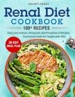Renal Diet Cookbook: Easy Low Sodium, Potassium and Phosphorus. Nutritional Guide for People with CKD. Cover Image