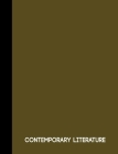 Contemporary Literature: Olive Green One Subject Notebook 120 pages college ruled Cover Image