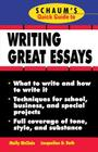 Schaum's Quick Guide to Writing Great Essays (Schaum's Quick Guides) Cover Image