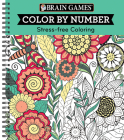Brain Games - Color by Number: Stress-Free Coloring (Green) Cover Image