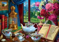 Tea Set 1000-Piece Puzzle Cover Image
