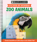 Brain Games - Sticker by Number: Zoo Animals (Square Stickers): Create Beautiful Art with Easy to Use Sticker Fun! Cover Image