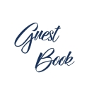 Navy Blue Guest Book, Weddings, Anniversary, Party's, Special Occasions, Memories, Christening, Baptism, Visitors Book, Guests Comments, Vacation Home Cover Image