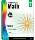 Spectrum Math Workbook, Grade 2 Cover Image