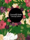 Cornell Note Taking System: Beautiful Floral Cover, Note Taking Notebook, Cornell Note Taking System Book, US Letter 120 Pages Large Size 8.5