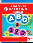 ABC & 123 Coloring Book: For Kids Cover Image