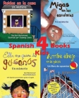 4 Spanish Books for Kids - 4 libros para niños: With Pronunciation Guide in English Cover Image