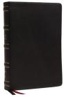 Nkjv, Single-Column Wide-Margin Reference Bible, Genuine Leather, Black, Red Letter, Comfort Print: Holy Bible, New King James Version Cover Image