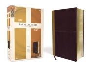 KJV, Amplified, Parallel Bible, Large Print, Leathersoft, Tan/Burgundy, Red Letter Edition: Two Bible Versions Together for Study and Comparison Cover Image