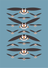 I Like Birds: Flying Puffins Hardback Notebook Cover Image