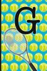 G: Tennis Monogram Initial Notebook for boys Letter G - 6
