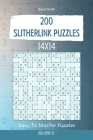 Slitherlink Puzzles - 200 Easy to Master Puzzles 14x14 vol.21 Cover Image