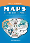 Art of Coloring: Maps of the Disney Parks: 36 Postcards to Inspire Creativity Cover Image
