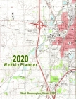 2020 Weekly Planner: West Bloomington, Illinois (1981): Vintage Topo Map Cover Cover Image