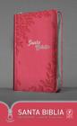 Santa Biblia Ntv, Edición Zíper, Flores Rosa (Sentipiel) Cover Image