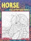 Adult Coloring Books Mandala Large Print - Animals - Horse Cover Image
