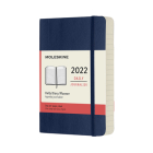 Moleskine 2022  Daily Planner, 12M, Pocket, Sapphire Blue, Soft Cover (3.5 x 5.5) Cover Image