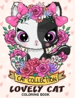 Lovely Cat Coloring Book: Adorable Cat Adults Coloring Book Stress Relieving Designs Patterns Cover Image