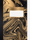 Graph Paper Notebook: Gold & Black Marble 1 cm Square Graph Paper Graphing Notebook Science & Math Notebook Quad Ruled Notebook Graph Compos Cover Image