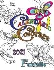 Calendario da Colorare 2021 Farfalle Cover Image