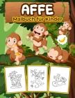 Affe Malbuch für Kinder: Große Affe Buch für Jungen, Mädchen und Kinder. Perfekte Affengeschenke für Kleinkinder und Kinder, die gerne mit nied Cover Image