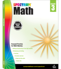 Spectrum Math Workbook, Grade 3 Cover Image