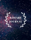 Notary Journal: Notary Ledger Book- Journal Of Notary Records Cover Image
