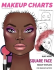 Makeup Charts - Face Charts for Makeup Artists: Black Model - SQUARE face shape Cover Image