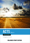 Acts for Everyone, Part 2 (Enlarged Print) (New Testament for Everyone) Cover Image
