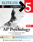 5 Steps to a 5: AP Psychology 2022 Elite Student Edition Cover Image