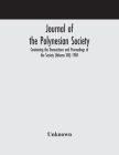 Journal of the Polynesian Society; Containing the Transactions and Proceedings of the Society (Volume XIII) 1904 Cover Image