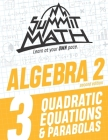 Summit Math Algebra 2 Book 3: Quadratic Equations and Parabolas Cover Image