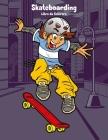 Skateboarding Libro da Colorare 1 Cover Image