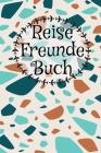 Reisefreundebuch: Für Erwachsene zum Eintragen I Erinnerung an Urlaubsbekanntschaften I Motiv: Orange Blaues Muster Cover Image