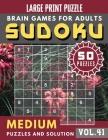 Sudoku Medium: suduko puzzle books for adults large print - 50 Medium sudoku books Puzzles and Solutions Large Print Perfect for Seni Cover Image