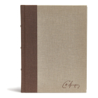 CSB Spurgeon Study Bible, Brown/Tan Cloth Over Board: Study Notes, Quotes, Sermons Outlines, Easy-to-Read Font Cover Image
