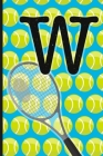 W: Tennis Monogram Initial Notebook for boys Letter W - 6