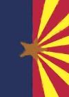 Arizona Flag Watercolor Sketchbook Cover Image
