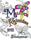 Malbuch Kalender 2021 Schmetterlinge Cover Image
