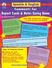 Spanish & English Comments for Report Cards & Notes Going Home, Grades K - 5 Cover Image