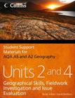 AQA AS and A2 Geography Units 2 and 4: Geographical Skills, Fieldwork Investigation and Issue Evaluation (Student Support Materials for Geography) Cover Image