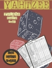 Yahtzee Triple Score Pads: Score sheets for familly and friends, where you can specify the day of the game each time playing. 130 Pages in a larg Cover Image
