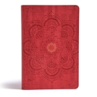 CSB Essential Teen Study Bible, Red Flower Cork LeatherTouch Cover Image