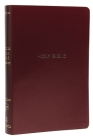NKJV, Reference Bible, Center-Column Giant Print, Leather-Look, Burgundy, Red Letter Edition, Comfort Print Cover Image