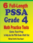6 Full-Length PSSA Grade 4 Math Practice Tests: Extra Test Prep to Help Ace the PSSA Grade 4 Math Test Cover Image