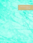 Pool Maintenance Journal: Swimming pool cleaning and repair journal log book for business owners and employees - Aqua teal blue marble cover Cover Image